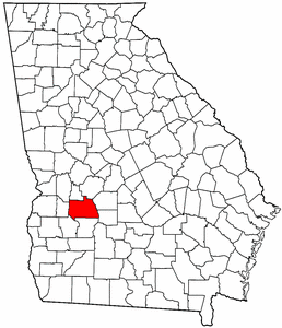 Georgia Map showing Sumter County