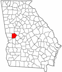 Georgia Map showing Talbot County