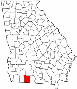 Georgia Map showing Thomas County