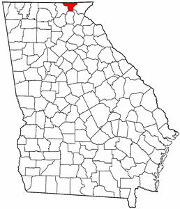 Georgia Map showing Towns County