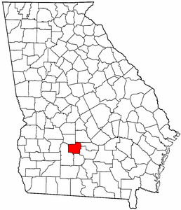 Georgia Map showing Turner County