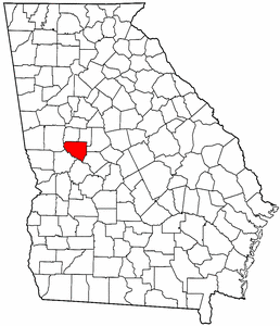 Georgia Map showing Upson County