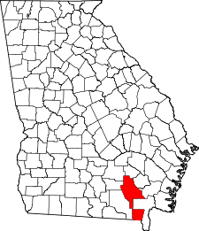Georgia Map showing Ware County