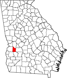 Georgia Map showing Webster County