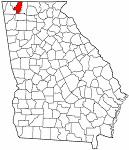 Georgia Map showing Whitfield County