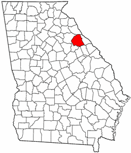 Georgia Map showing Wilkes County