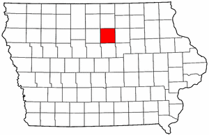Iowa Map showing Franklin County
