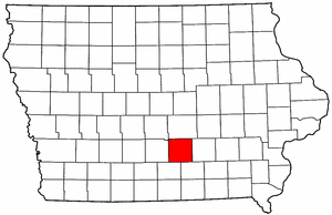 Iowa Map showing Marion County