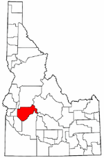 Idaho Map showing Boise County