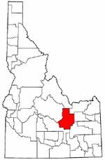 Idaho Map showing Butte County