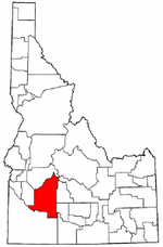 Idaho Map showing Elmore County