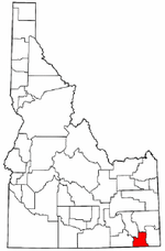 Idaho Map showing Franklin County