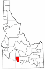 Idaho Map showing Gooding County