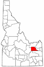Idaho Map showing Jefferson County