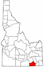 Idaho Map showing Oneida County