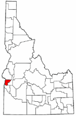 Idaho Map showing Payette County
