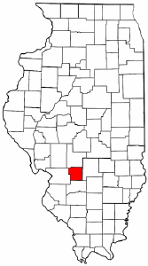 Illinois Map showing Bond County