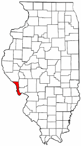 Illinois Map showing Calhoun County