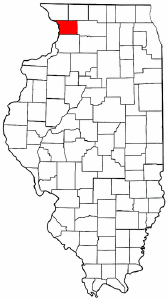 Illinois Map showing Carroll County