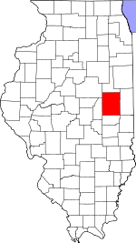 Illinois Map showing Champaign County