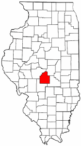 Illinois Map showing Christian County