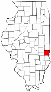 Illinois Map showing Clark County
