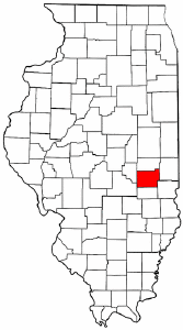 Illinois Map showing Coles County