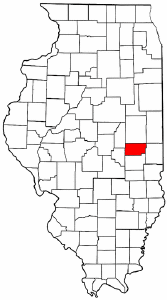 Illinois Map showing Douglas County