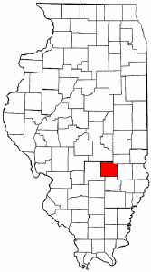 Illinois Map showing Effingham County