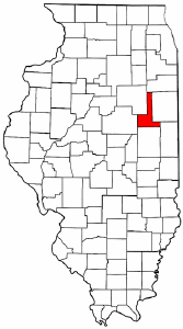 Illinois Map showing Ford County