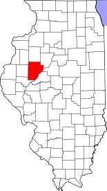 Illinois Map showing Fulton County