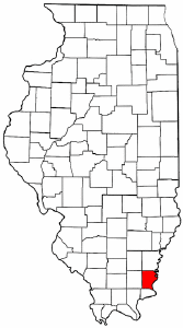 Illinois Map showing Gallatin County