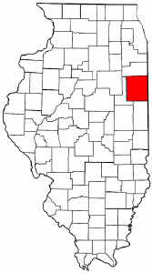 Illinois Map showing Iroquois County