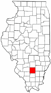 Illinois Map showing Jefferson County