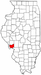 Illinois Map showing Jersey County