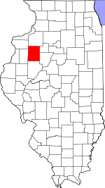 Illinois Map showing Knox County