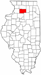 Illinois Map showing Lee County