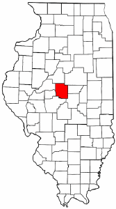 Illinois Map showing Logan County