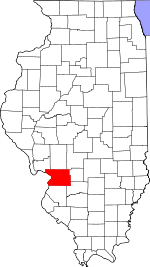 Illinois Map showing Madison County