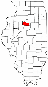 Illinois Map showing Marshall County