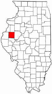 Illinois Map showing McDonough County