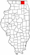 Illinois Map showing McHenry County