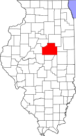 Illinois Map showing McLean County