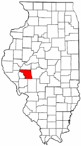 Illinois Map showing Morgan County