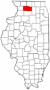 Illinois Map showing Ogle County