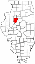 Illinois Map showing Peoria County