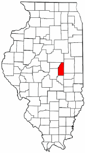 Illinois Map showing Piatt County