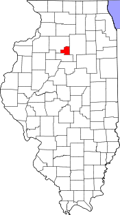 Illinois Map showing Putnam County