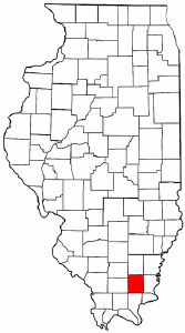 Illinois Map showing Saline County