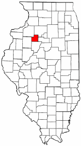 Illinois Map showing Stark County